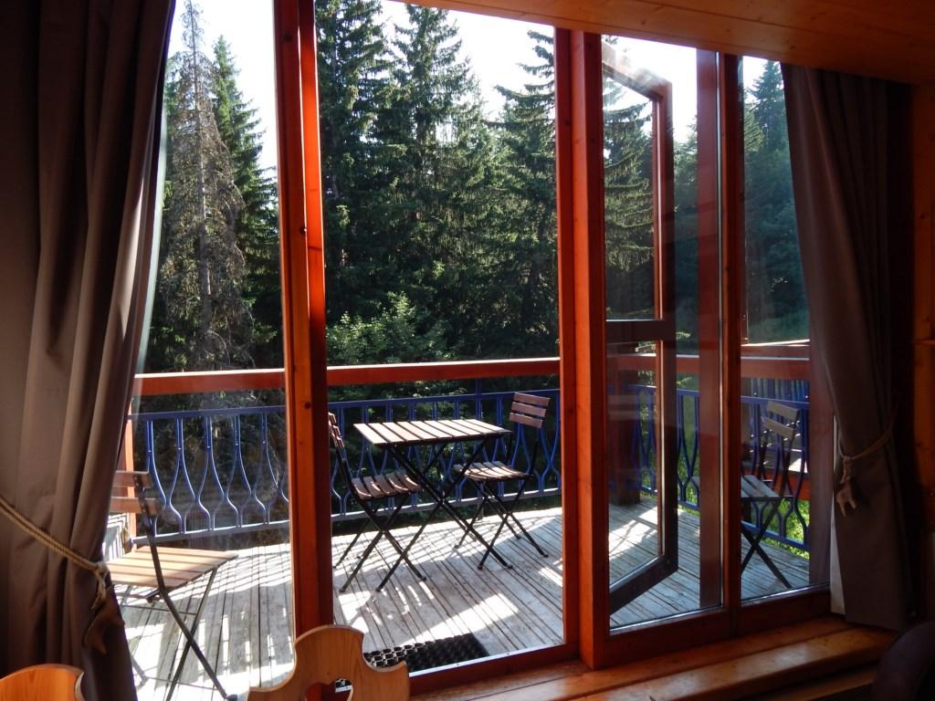 L'accès au balcon