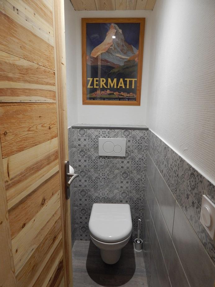 Les toilettes au rez de chaussé